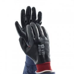 TraffiGlove TG142 Traction Nitrile Coated Cut Level 1 Handling Gloves