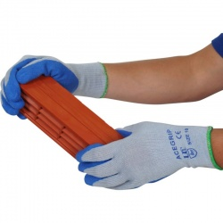 AceGrip Blue General Purpose Latex Coated Gloves (Case of 120 Pairs)