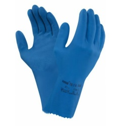 Ansell Universal Plus 87-665 Chemical-Resistant Latex Gauntlet Gloves