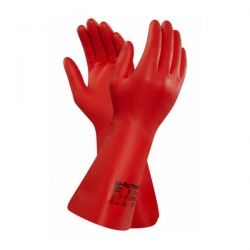 Ansell Solvex 37-900 Red Nitrile Chemical-Resistant Gauntlets