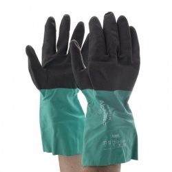 Ansell AlphaTec 58-535W Chemical-Resistant Nylon Extra Long Gauntlets