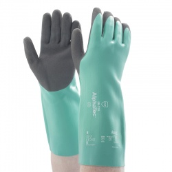 Ansell AlphaTec 58-735 Nitrile Chemical-Resistant Gauntlets