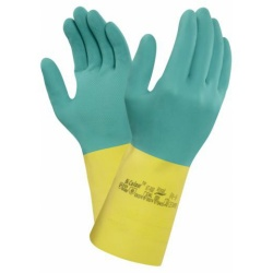 Ansell Bi-Colour 87-900 Chemical-Resistant Latex Gauntlet Gloves