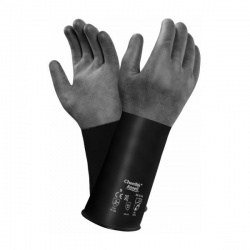 Ansell AlphaTec 38-514 Butyl Chemical-Resistant Thin Gauntlets