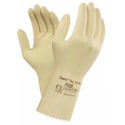 Ansell Duzmor Plus 87-600 Ultra-Thin Unflocked Latex Gauntlet Gloves