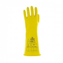 Ansell E015Y Electrician Class 00 Yellow Insulating Rubber Gauntlets