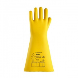 Ansell E019Y Electrician Class 3 Yellow Insulating Rubber Gauntlets