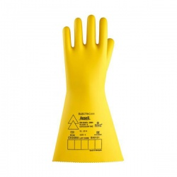 Ansell E022Y Electrician Class 2 Yellow Insulating Long Rubber Gauntlets