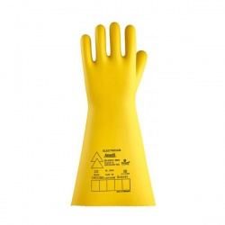 Ansell E024Y Electrician Class 4 Yellow Insulating Rubber Gloves