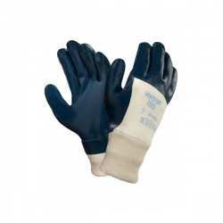 Ansell Hycron 27-600 Jersey-Lined Heavy-Duty 3/4 Dipped Gloves