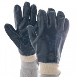 Ansell Hycron 27-602 Fully-Coated Heavy-Duty Knitwrist Gloves