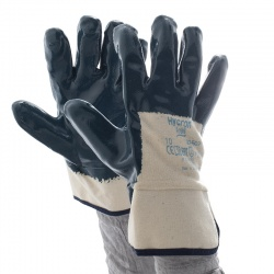 Ansell Hycron 27-607 3/4-Dipped Safety Cuff Heavy-Duty Work Gloves