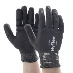 Ansell HyFlex 11-539 Cut-Resistant Grip Fully Coated Work Gloves