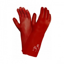 Ansell PVA Chemical Resistant 15-554 Fully Coated Red Gauntlets