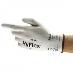 Ansell HyFlex 48-100 Palm-Coated Light Application White Work Gloves