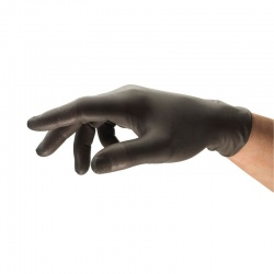 Ansell TouchNTuff 93-250 Black Disposable Nitrile Gloves