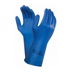 Ansell Virtex 79-700 Blue Nitrile Gauntlets