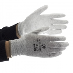 Anti-Static PU-Coated PCN-Carbon Gloves