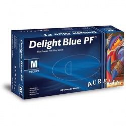 Aurelia Delight Blue PF Powder-Free Vinyl Gloves 38996-9