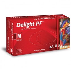 Aurelia Delight PF Powder-Free Vinyl Medical Gloves 3822