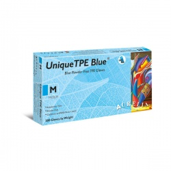Aurelia Unique TPE Blue Powder-Free Gloves 48226-9