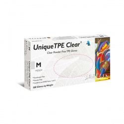 Aurelia Unique TPE Clear Powder-Free Gloves 49226-9