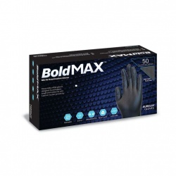 Aurelia Bold Max Black Nitrile Medical Grade Gloves