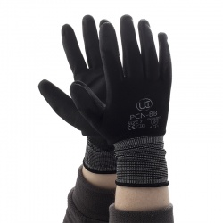 Black PU-Coated Precise Handling PCN-B Gloves