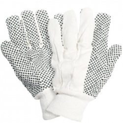 Briers Cotton Drill Gardening Gloves with PVC Dots B0117
