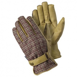 Briers Checked Leather Gardening Gloves B7657