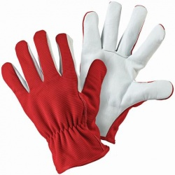 Briers Red Lined Leather Palm Gardening Gloves B6319