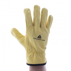 Delta Plus Thick Cowhide Full Grain Leather FBJA49 Gloves