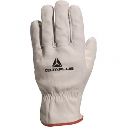 Delta Plus Grey Cowhide Leather Grain FBN49 Gloves
