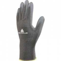 Delta Plus Polyamide Knitted PU Coated VE702GR Gloves