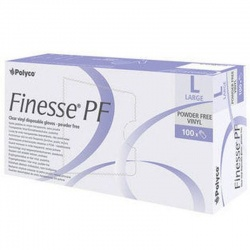 Polyco Finesse Powder-Free Clear Vinyl Disposable Gloves MPF25 (Case of 1000 Gloves)