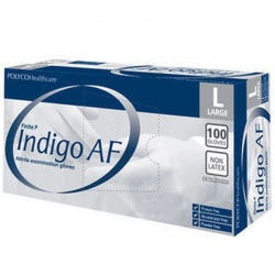 Polyco Finite P Indigo AF Nitrile Disposable Gloves MFNP100 (Case of 1000 Gloves)