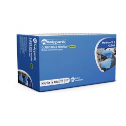 Polyco Bodyguards GL890 Blue Nitrile Disposable Gloves for Virus Protection