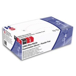 Hand Safe GN83 Blue Nitrile Examination Gloves (Pack of 100)