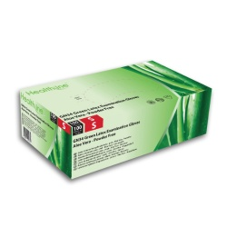 Healthline GN34 Aloe Vera Powder-Free Latex Examination Gloves (Pack of 100)
