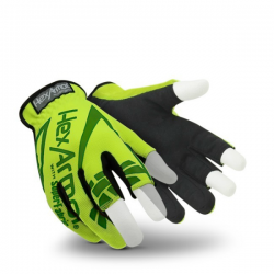 HexArmor Chrome Series 4034 Hi-Vis Partially Fingerless Gloves
