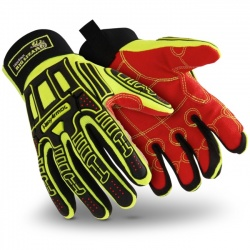 HexArmor Rig Lizard 2021X Hi-Vis Impact Gloves with Heat-Resistance