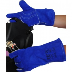 Lined Blue Welder WGB Gauntlets