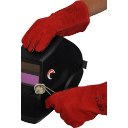Lined Red Welder WGR Gauntlets