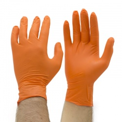 Orange Mamba Tough Disposable Nitrile Gloves BX-OMG