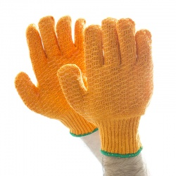 Polyco Criss-Cross PVC Seamless Knitted Gloves CSP156MNS