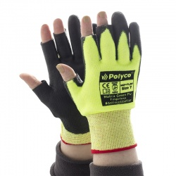 Polyco Matrix Green PU Fingerless Gloves MGP-FL
