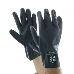 Polyco Polysol 27cm Double-Dipped PVC Gloves P71