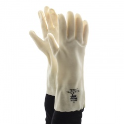 Polyco Vyclear Clear Dipped PVC Chemical Resistant Gloves P713