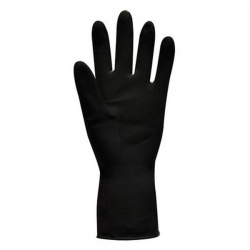 Polyco Jet Black Heavy Duty Chemical Resistant Gloves 52