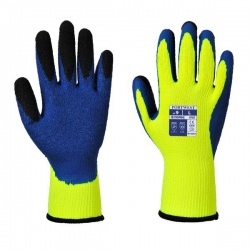 Portwest Thermal Latex Yellow and Blue Gloves A185Y4